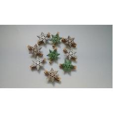 Снежинка на прищепке, декоративная в ассортименте, 1 шт.