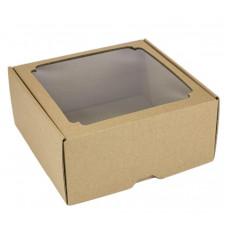 Коробка с окном F7.1, МГК бурый, 19 х 19 х 9 см