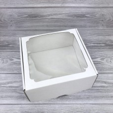 Коробка с окном F 7.0, МГК БЕЛЫЙ, 19 х 19 х 9 см