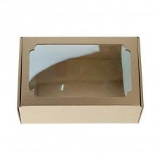 Коробка с окном F4.1, МГК бурый, 23 х 14,5 х 9 см