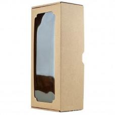Коробка с окном F2.1, МГК бурый , 32 х 13 х 9 см
