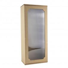 Коробка с окном F11.1, МГК бурый, 36 х 15 х 10 см