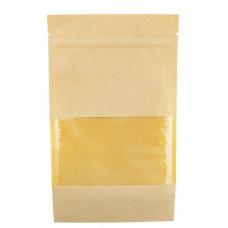 Пакет бумажный с ЗИП замком и окошком 70мм, 135 х 225 мм