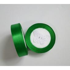 Лента атласная 2см*25 ярд, зеленый, №019