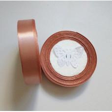 Лента атласная 2см*25 ярд, дымчато-розовый, №146