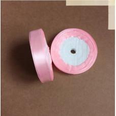 Лента атласная 1,5см*25 ярд, розовый, №04