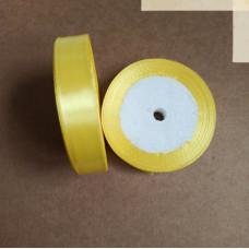 Лента атласная 1,5см*25 ярд, желтый, №015