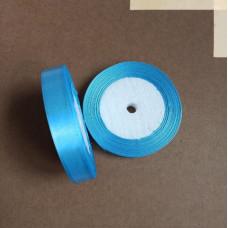 Лента атласная 1,5см*25 ярд, голубой, №187