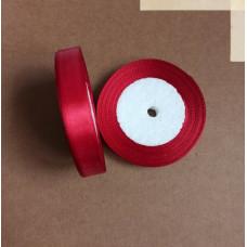 Лента атласная 1,5см*25 ярд, бордовый, №033