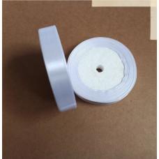 Лента атласная 1,5см*25 ярд, белый, №01