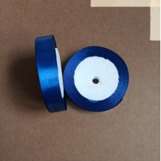 Лента атласная 1,5см*25 ярд, синий, №040