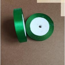 Лента атласная 1,5см*25 ярд, зеленый, №019