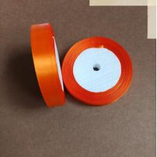 Лента атласная 1,5см*25 ярд, оранжевый, №025