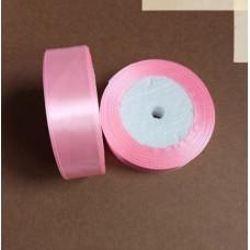 Лента атласная 2,5см*25 ярд, розовый, №04