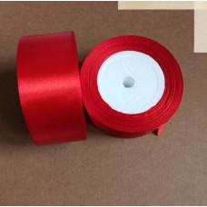 Лента атласная 4см*25 ярд, красный, №026