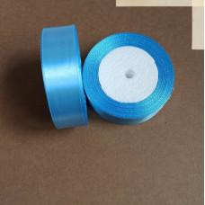Лента атласная 2,5см*25 ярд, голубой, №187