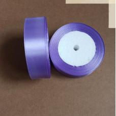 Лента атласная 2,5см*25 ярд, фиолетовый, №021