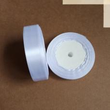 Лента атласная 2см*25 ярд, белый, №01