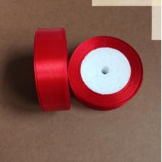 Лента атласная 2,5см*25 ярд, красный, №026