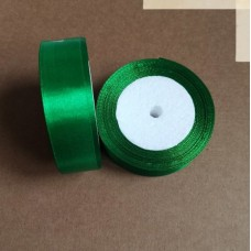 Лента атласная 2,5см*25 ярд, зеленый, №019