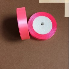 Лента атласная 2см*25 ярд, розовый, №05