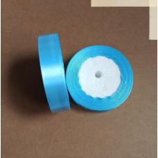 Лента атласная 2см*25 ярд, голубой, №187