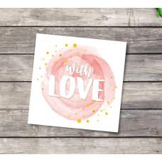 Мини‒открытка «Поздравляю», с любовью, 7 х 7 см