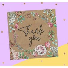 Открытка‒мини «Thank you», 7 × 7 см