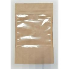 Пакет бумажный с ЗИП замком и прозрачным окошком, 160 х 250 мм
