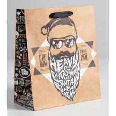 Пакет крафтовый вертикальный «Брутального года», ML 23 × 27 × 8 см