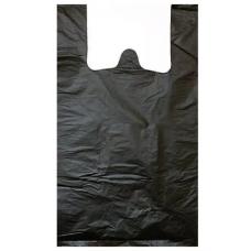 Майка ПНД 30+16х60 одн.черная 15мкм, 100 шт.