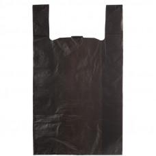 Майка ПНД 42+20х75 одн.черная,15мкм, 100 шт.