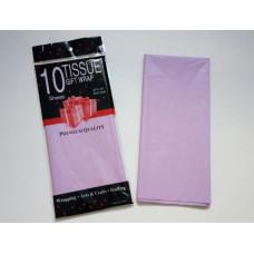 Бумага упаковочная тишью, светло-фиолетовый №2563, 50 х 66 см, 10 листов