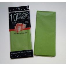 Бумага упаковочная тишью, фисташковый №384, 50 х 66 см, 10 листов