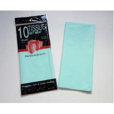 Бумага упаковочная тишью, светло-голубой №290, 50 х 66 см, 10 листов