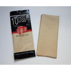 Бумага упаковочная тишью, натуральный №468, 50 х 66 см, 10 листов