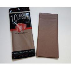 Бумага упаковочная тишью, шоколадный №498, 50 х 66 см, 10 листов