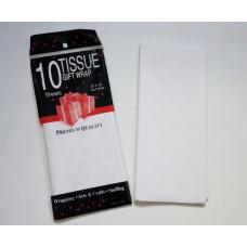 Бумага упаковочная тишью, белый №045, 50 х 66 см, 10 листов