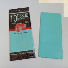 Бумага упаковочная тишью, аквамариновый №324, 50 х 66 см, 10 листов