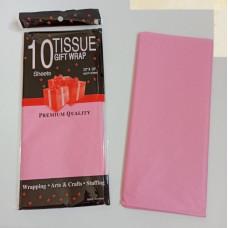 Бумага упаковочная тишью, розовый №2180, 50 х 66 см, 10 листов