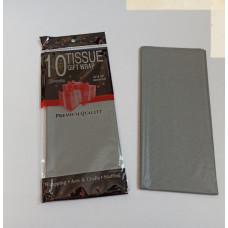 Бумага упаковочная тишью, серый №430, 50 х 66 см, 10 листов