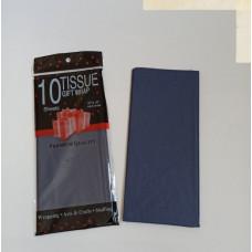 Бумага упаковочная тишью, темно-синий №655, 50 х 66 см, 10 листов