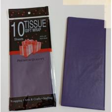 Бумага упаковочная тишью, темно-фиолетовый №275, 50 х 66 см, 10 листов