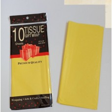 Бумага упаковочная тишью, желтый №107, 50 х 66 см, 10 листов