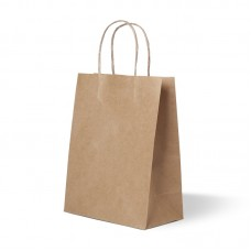 Пакет бумажный с ручкой 35х15х45 см, крафт