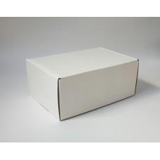 Самосборная коробка 22х17х10,5 см, белый микрогофрокартон
