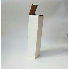 Самосборная коробка 7х7х29,8 см, белый микрогофрокартон