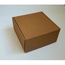 Самосборная коробка, гофрокартон 25х25х10 см