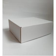 Самосборная коробка  28х23,5х10 см, микрогофрокартон, белый