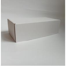 Самосборная коробка  30х15х9 см, микрогофрокартон, белый